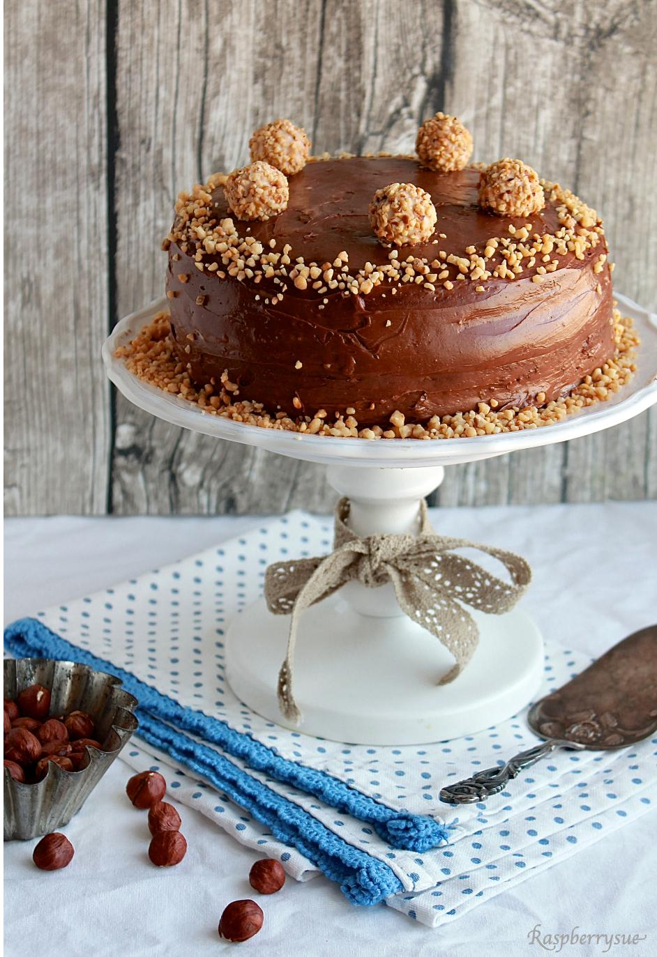 Hallo Winterspeck Schokoladige Giotto Torte Raspberrysue