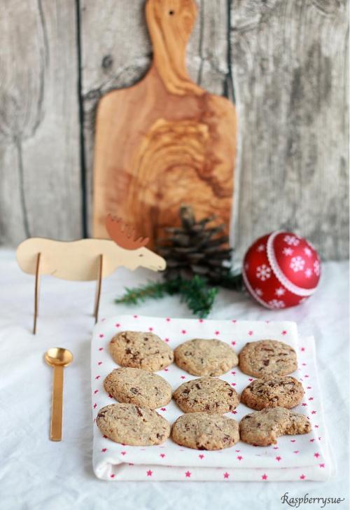 Lebkuchen Schoko Cookies1