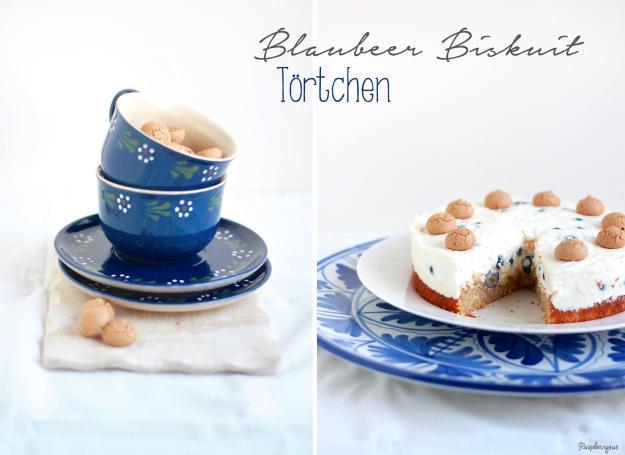 Blaubeer Biskuit Torte