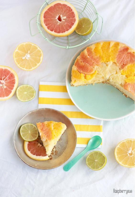 Grapefruit Upside Down Cake1