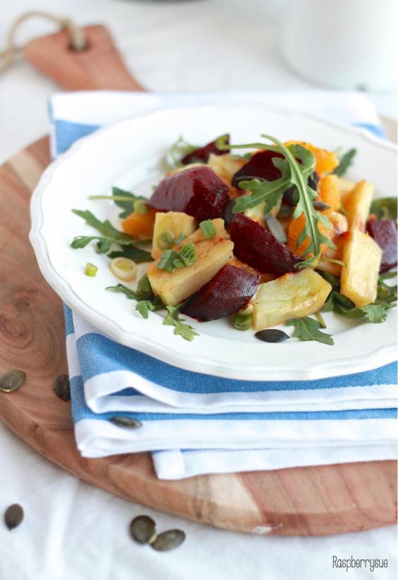 Kartoffel Kürbis Beete Salat2