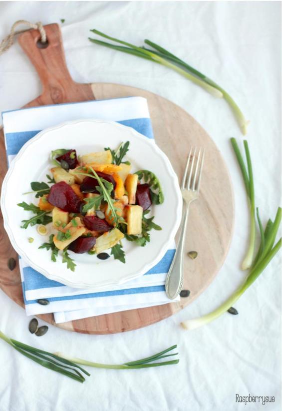 Kartoffel Kürbis Beete Salat3