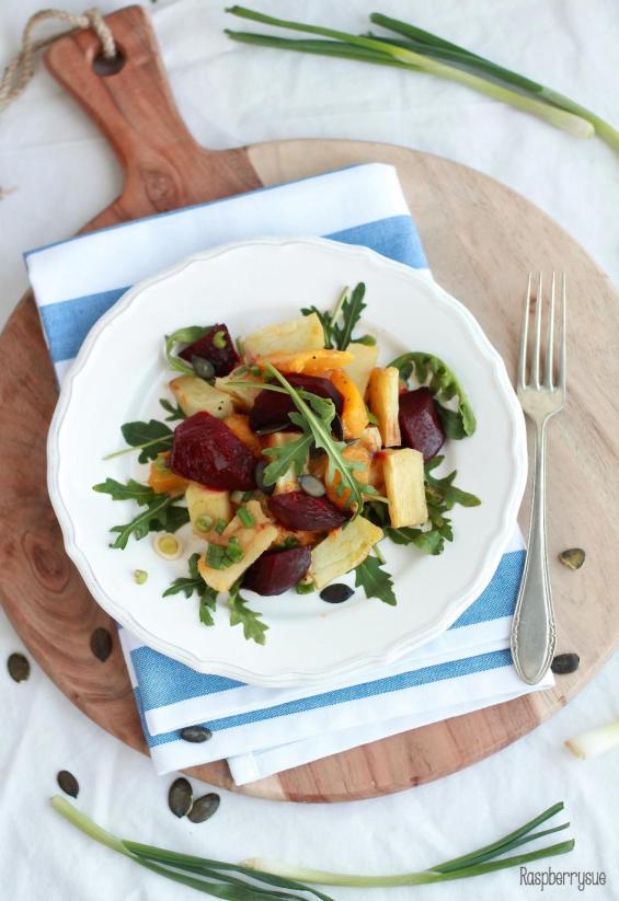 Kartoffel Kürbis Beete Salat4