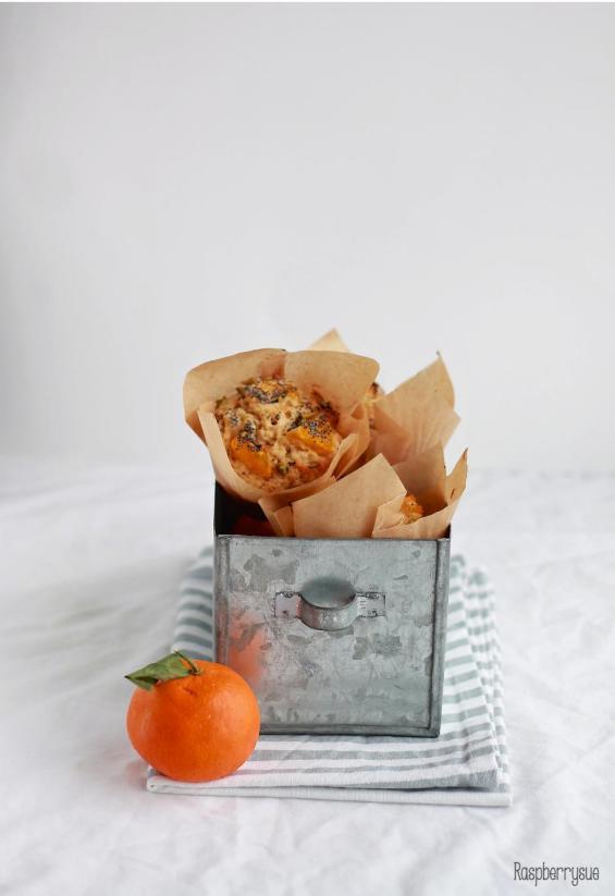 Mandarinen Mohn Muffins