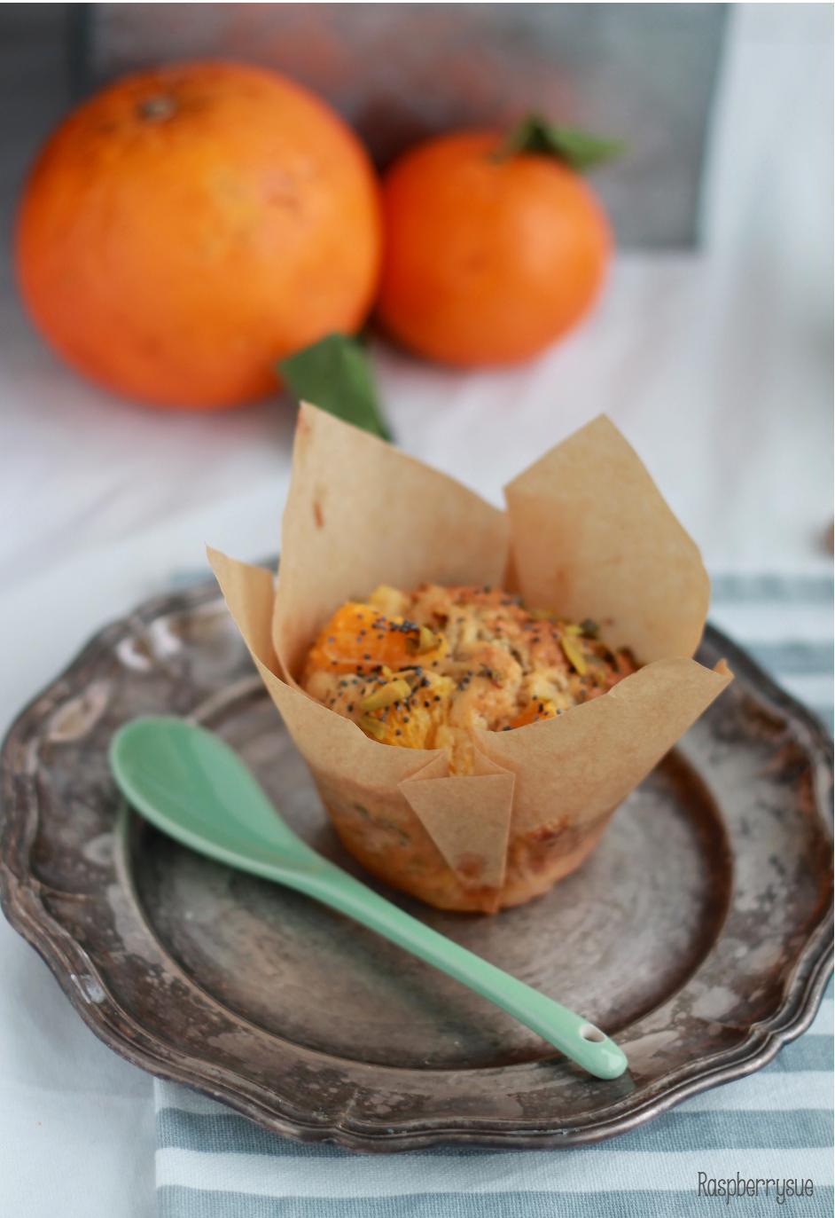 mandarinen pistazien muffins mit mohn raspberrysue. Black Bedroom Furniture Sets. Home Design Ideas