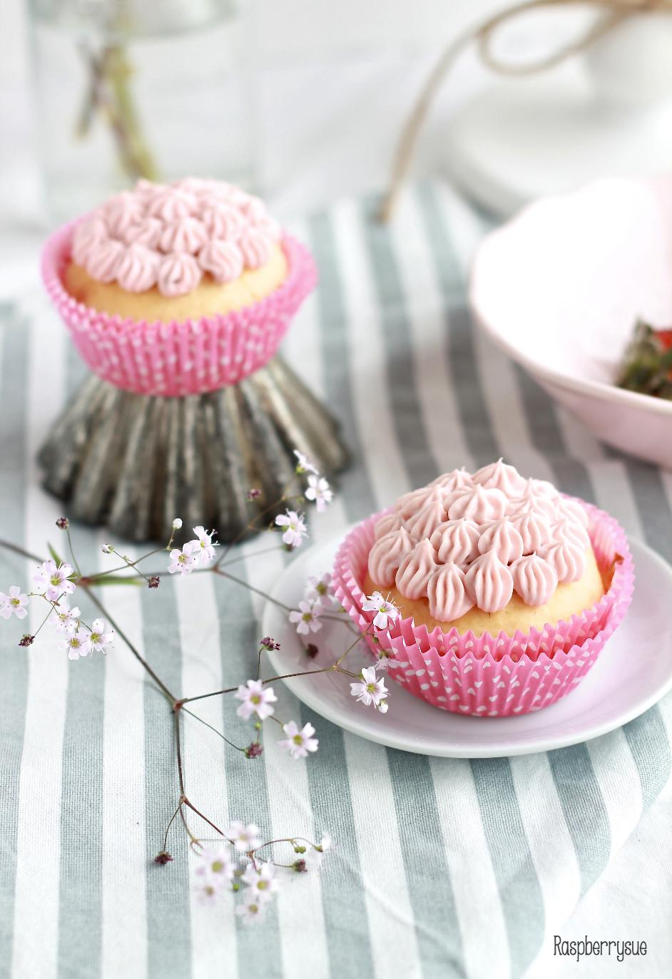 Happy Birthday Himbeer Kokos Cupcakes Raspberrysue