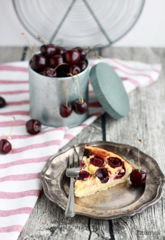 Kirschtarte mit Vanillepudding4