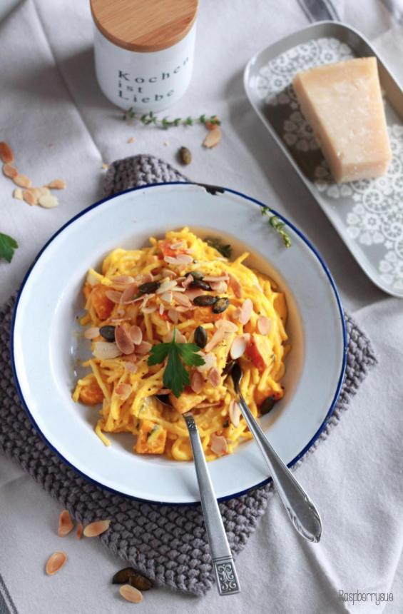 Kürbis Mascarpone Pasta