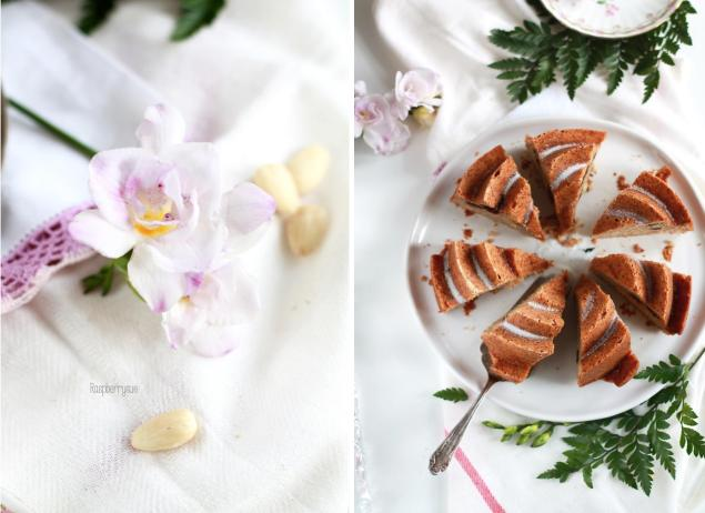 Apfelmuskuchen mit Kirschen 3