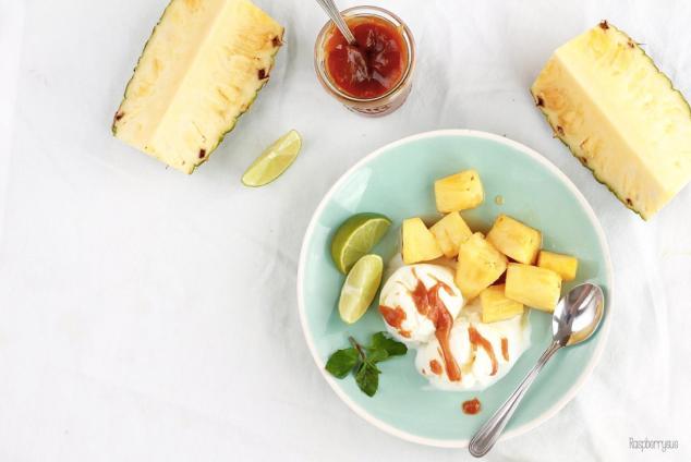 Karamellisierte Ananas 1