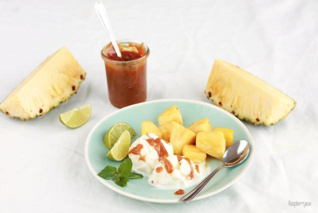 Karamellisierte Ananas 2