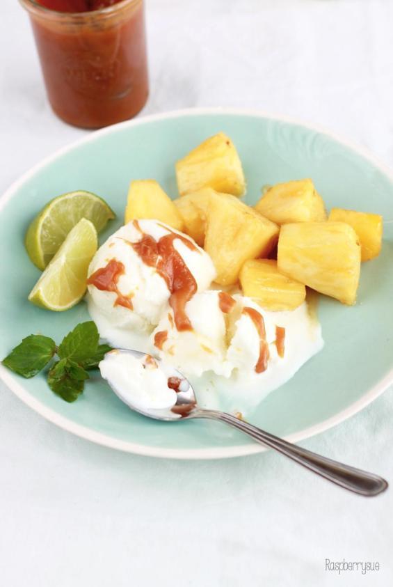 Karamellisierte Ananas 4
