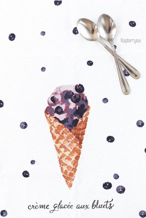 Blaubeer-Joghurt-Eis