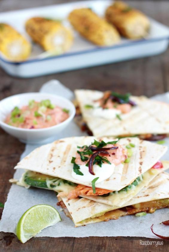 Grilled Corn und Claub Quesadillas 5