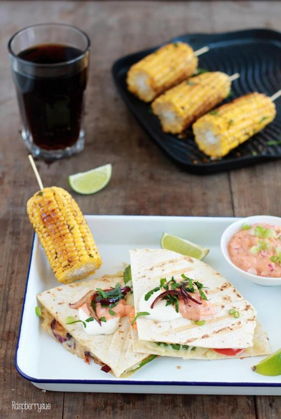 Grilled Corn und Club Quesadillas 3