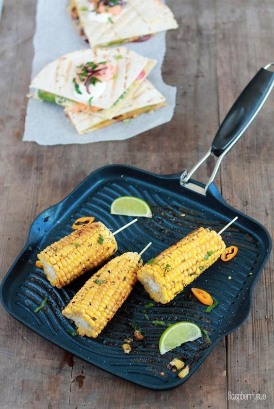 Grilled Corn und Club Quesadillas 4