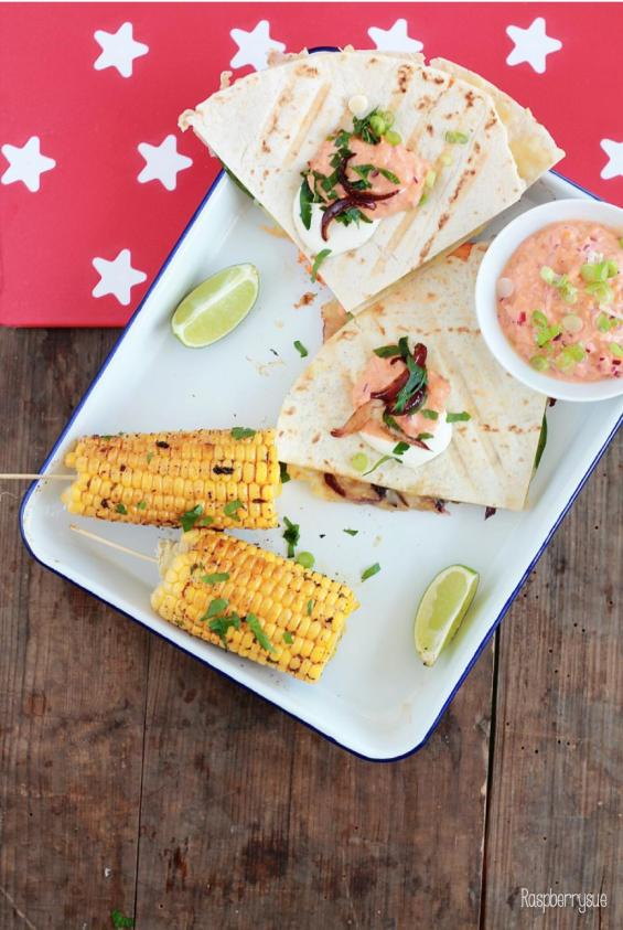 Grilled Corn und Club Quesadillas 6