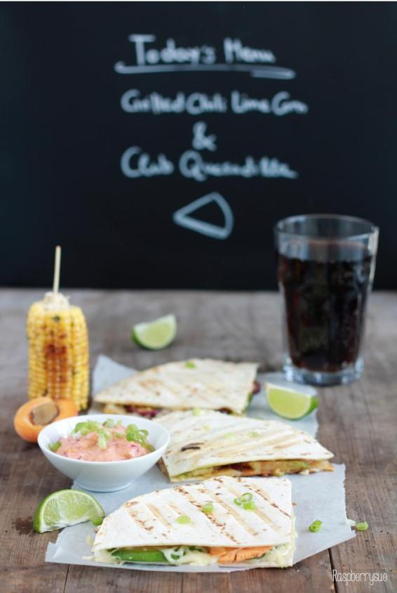 Grilled Corn und Club Quesadillas