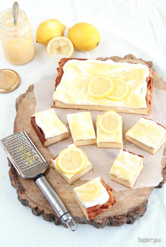 zitronen-cheese-cake-bars